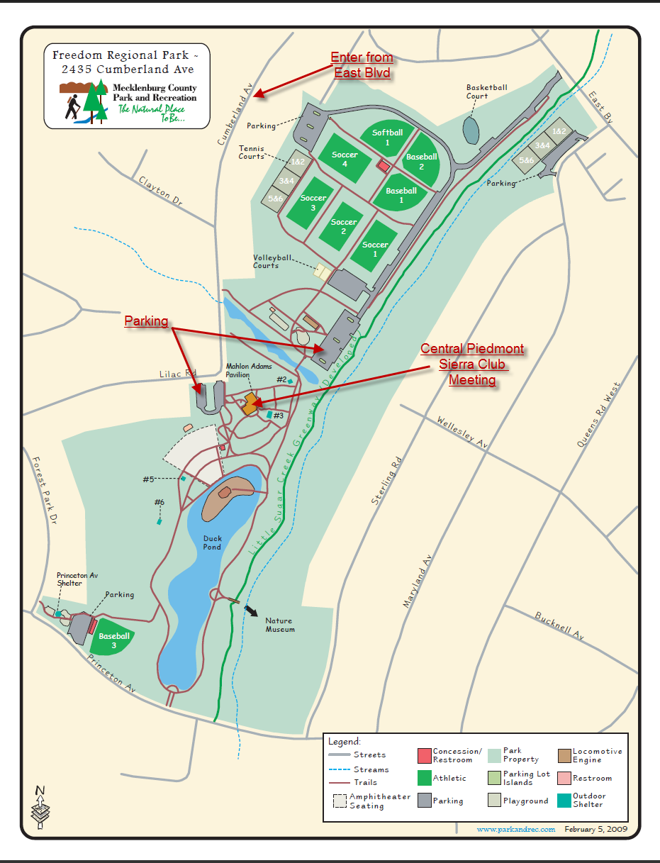 Freedom Park Charlotte Nc Map.About Nc Central Piedmont Group Of The Sierra Club