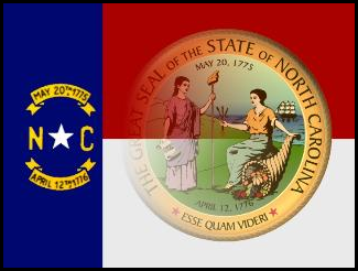 NC State Seal and Flag Combo