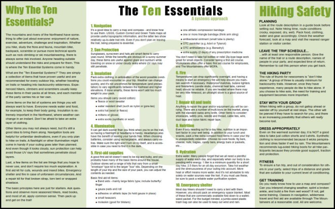 10 Essentials by the Mountaineers