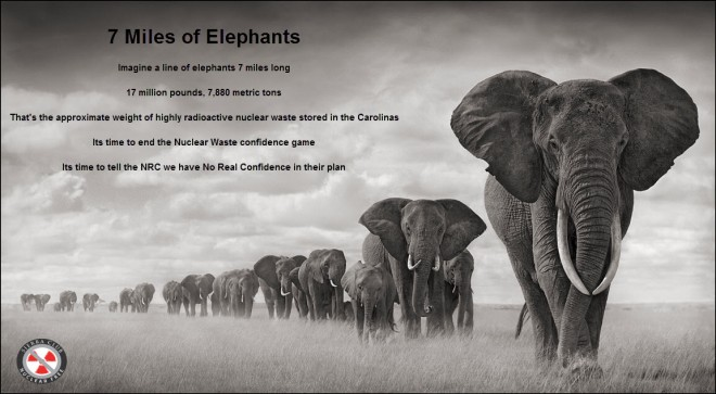 7 Miles of Elephants Nuke Waste