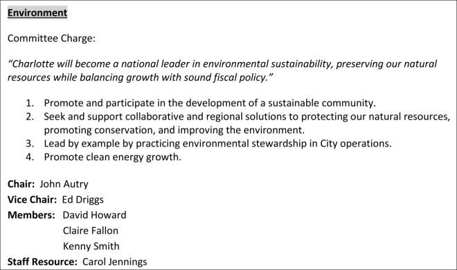 2014 Charlotte Enviroment Committee