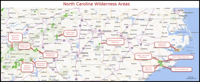 NC Wilderness Areas Map