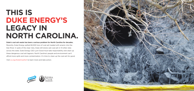 Duke Coal Ash Legacy Ad Feb 2014
