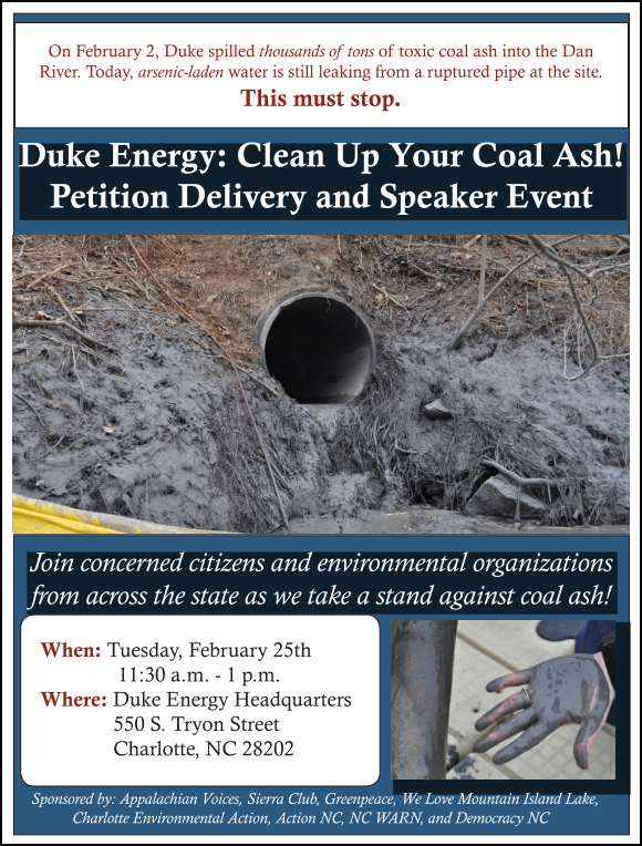 Duke Coal Petition Flyer