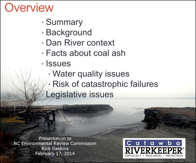 Coal Ash 101 R Gaskins to NC ERC Feb 17 2014