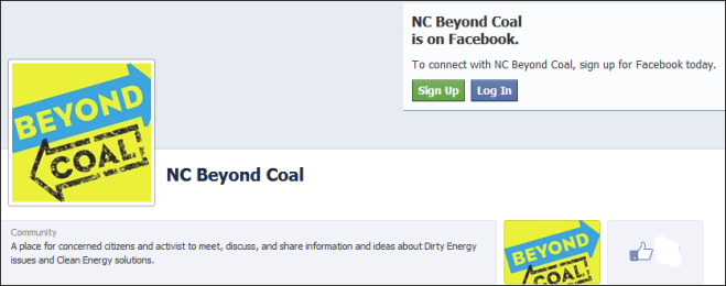 NC Beyond Coal Facebook