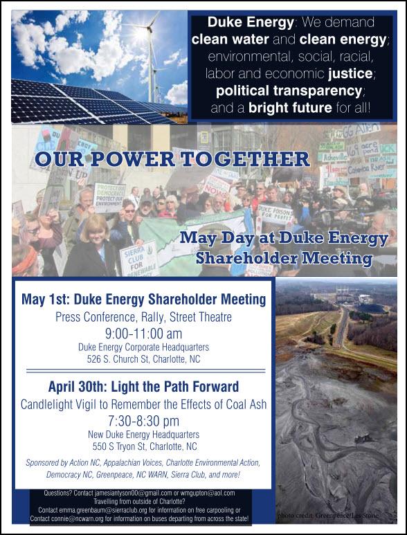 2014 Duke Shareholder Meeting Flyer