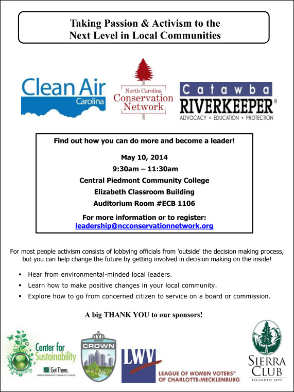Enviro Leadership Workshop May 10 2014