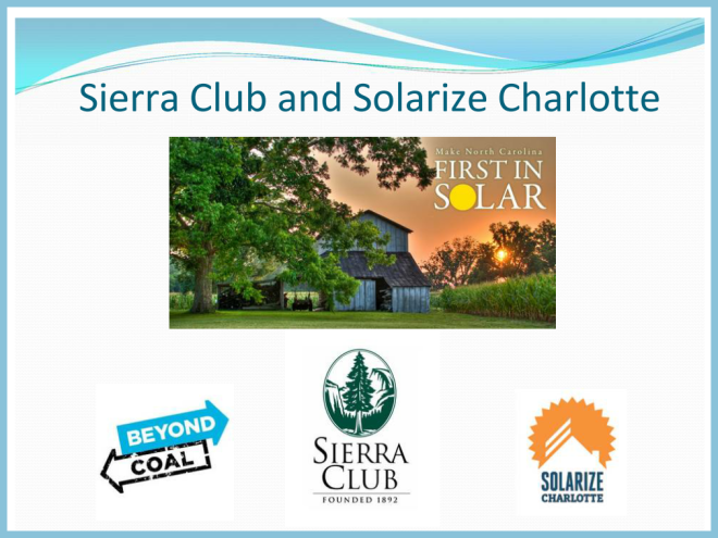 Sierra Club and SolChar Presentation