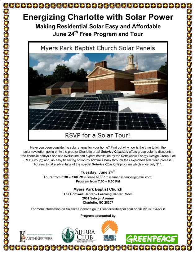 Energizing Charlotte with Solar Power June 24