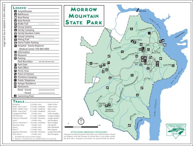 Morrow Mountain SP Map