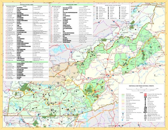 Pisgah and Natahala Map