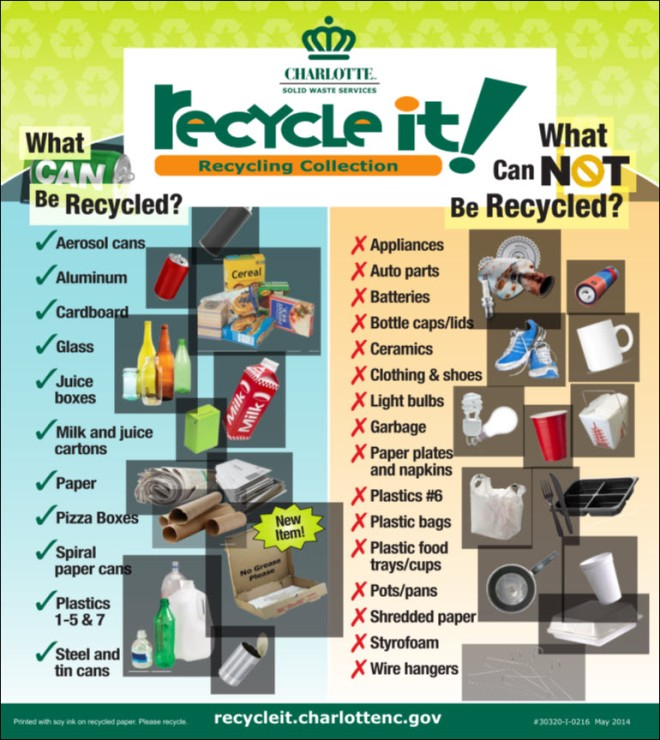 Recycle List July 2014