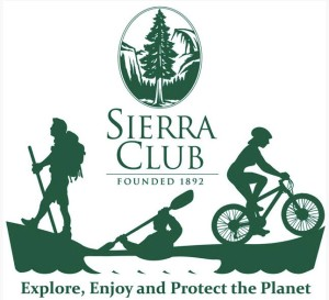 Sierra Club Outings Logo Paddle