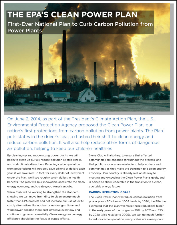 Clean Power Factsheet
