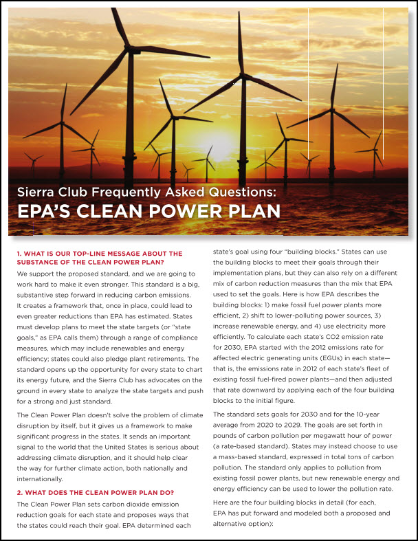 Clean Power FAQs