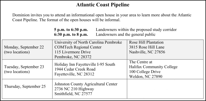 Pipeline Public Meetings