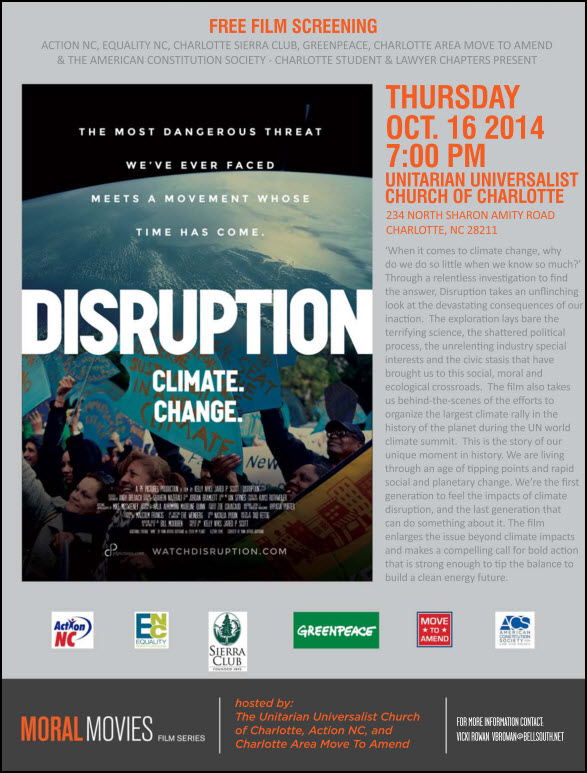 Disruption Flyer