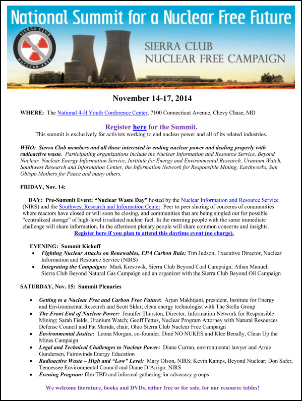 Nat Nuke Summit Nov 2014